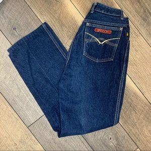 Vintage Sasson dark wash high rise jeans 25 1980s